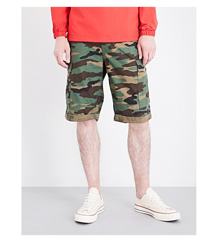 TOMMY JEANS 90s camouflage-print cotton cargo shorts (Camo print / multi