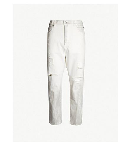 BALMAIN Dropped-crotch regular-fit straight jeans (Blanc