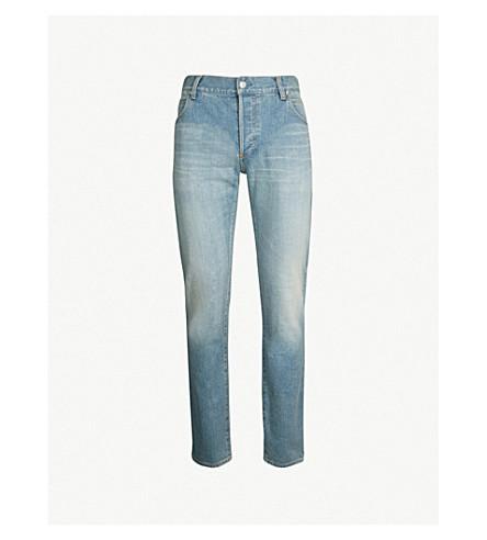 BALMAIN Faded slim-fit tapered jeans (Bleu clair