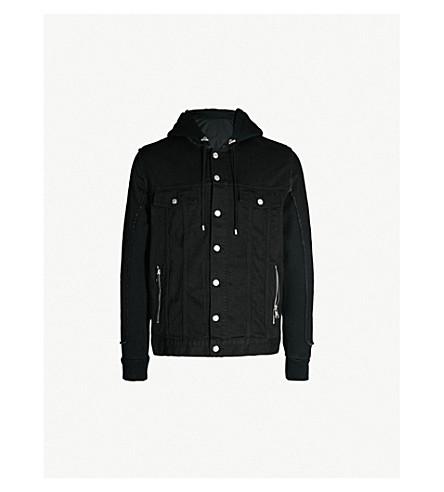 BALMAIN Hooded denim jacket (Noir