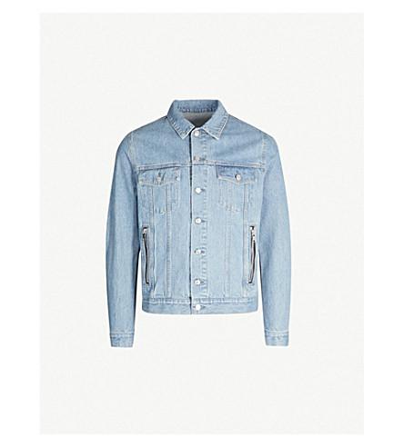 BALMAIN Logo-print denim jacket (Bleu