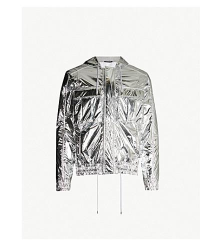 BALMAIN Mirrored shell hooded jacket (Argent