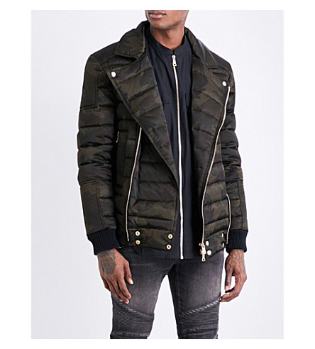 BALMAIN Camouflage-print shell-down puffer jacket (Camouflage