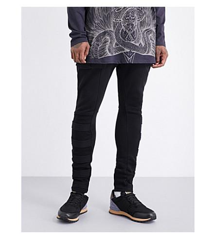BALMAIN Biker Cargo cotton-jersey trousers (Black