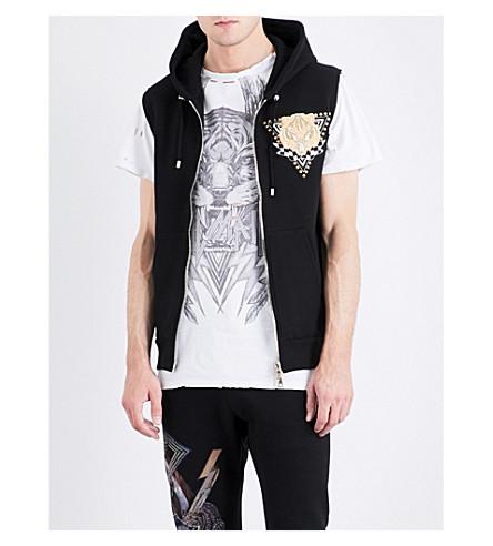 BALMAIN Badge-embellished cotton vest (Black