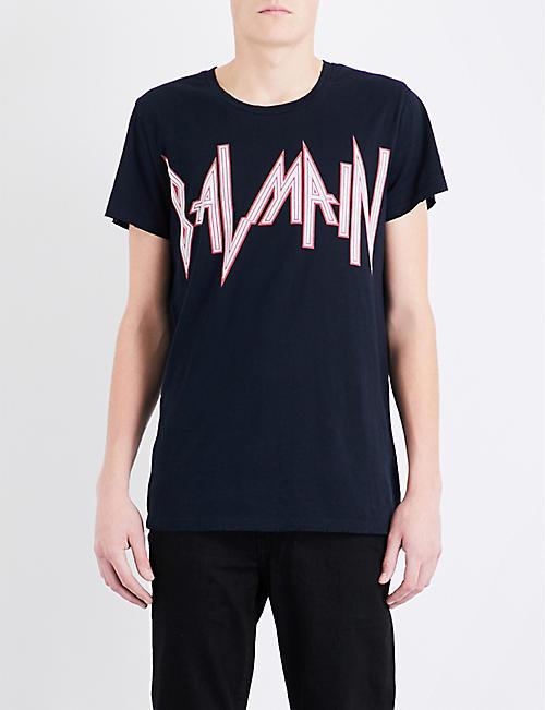 BALMAIN Rock logo-print cotton-jersey T-shirt