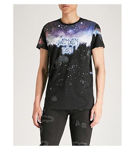 jersey camiseta Inprime de BALMAIN de Multicolore algodón t5pxzRqRn