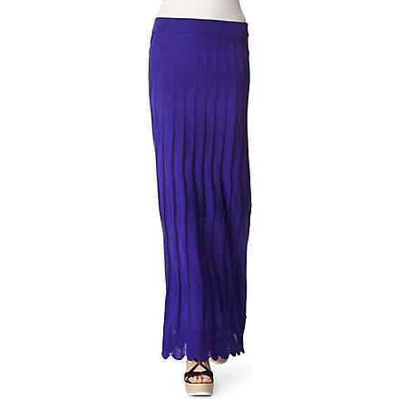 M MISSONI Long knitted skirt (Blue