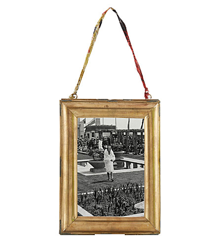 NKUKU Kariba antique brass portrait frame 4