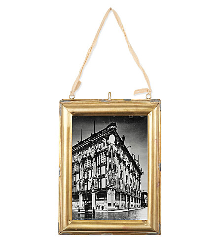 NKUKU Kariba antique brass photo frame 7x5