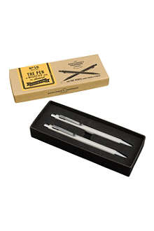 WILD & WOLF Gentlemen's Hardware stainless steel pen and pencil set