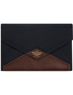 WILD & WOLF Canvas & leather tablet case