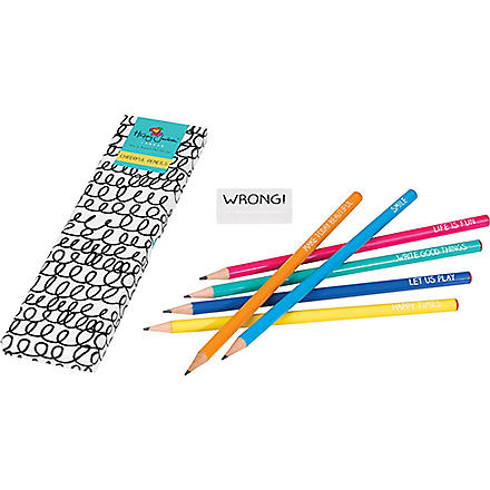 WILD & WOLF Cheerful pencils set of six