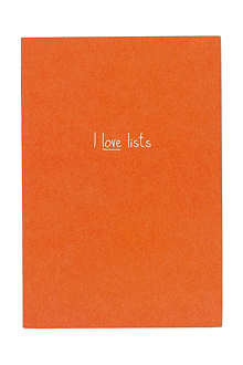 WILD & WOLF I Love Lists notebook
