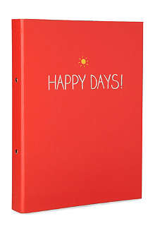WILD & WOLF Happy Days ring binder