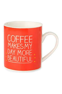 HAPPY JACKSON Coffee Makes My Day Beautiful mug