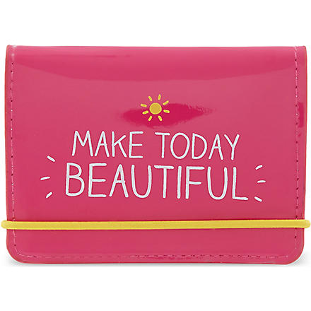 HAPPY JACKSON Make today beautiful card holder