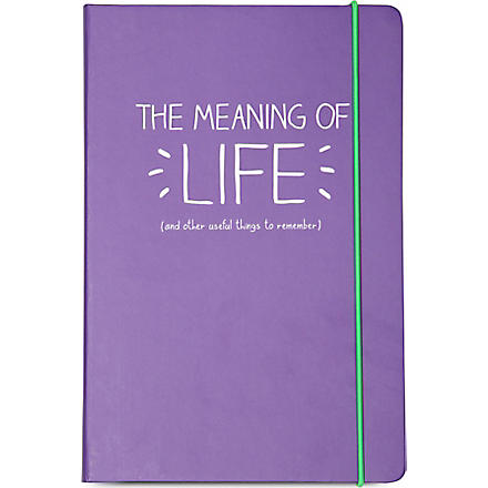 HAPPY JACKSON A5 'The Meaning Of Life' notebook