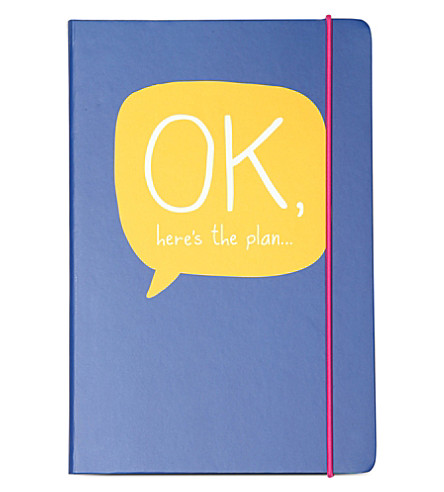 HAPPY JACKSON A5 'Ok, here's the plan' notebook