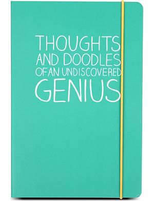 HAPPY JACKSON Undiscovered Genius A5 notebook
