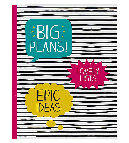 HAPPY JACKSON Big Plans large notebook