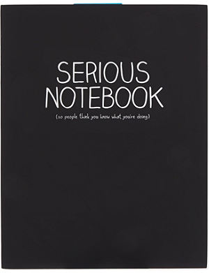 HAPPY JACKSON Serious Notebook A5 jotter