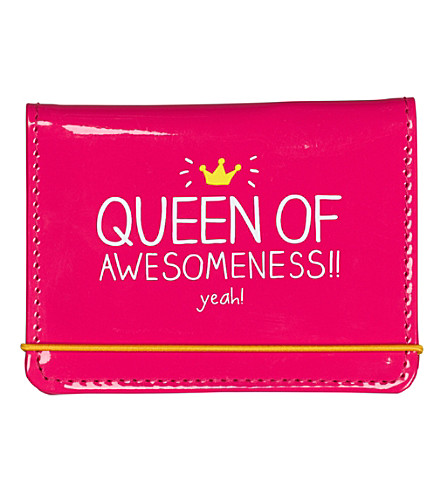 WILD & WOLF Queen of awesomeness vinyl card holder