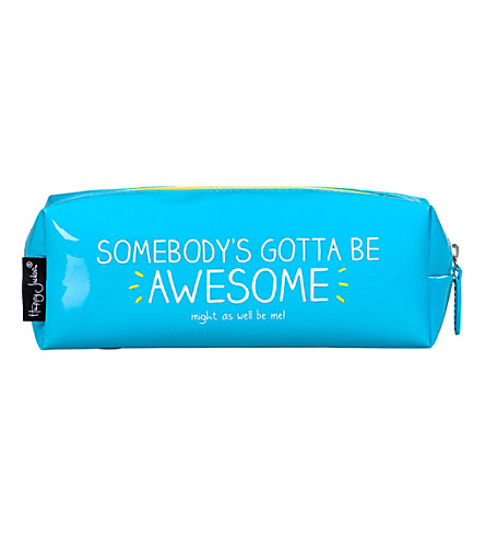 WILD & WOLF Somebody's gotta be awesome vinyl pencil case