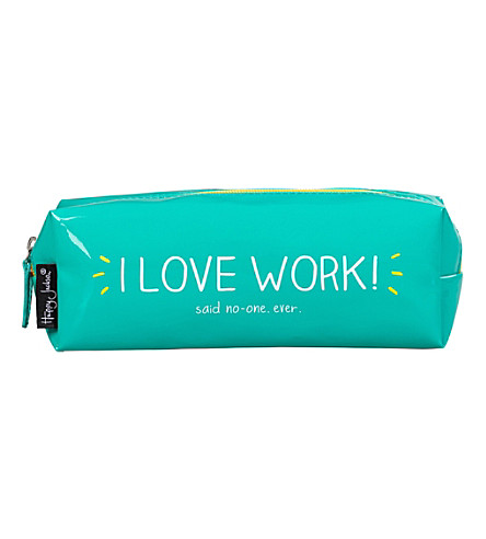 WILD & WOLF Vinyl I Love Work pencil case