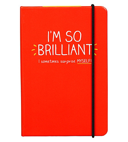 WILD & WOLF I'm so brilliant notebook A6