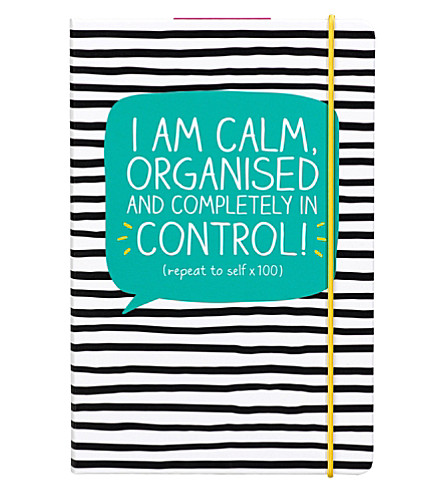 WILD & WOLF I'm calm, organised and completely in control A5 notebook