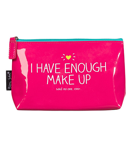 WILD & WOLF I Have Enough Make-up slogan makeup pouch