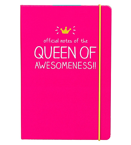 WILD & WOLF queen of awesomeness A5 notebook