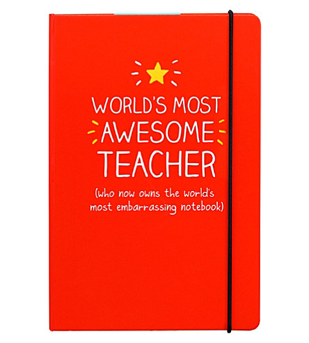 WILD & WOLF Awesome teacher notebook A5