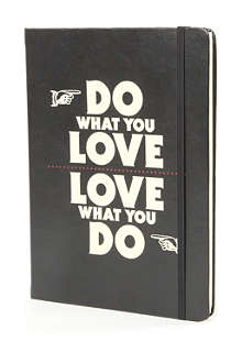WILD & WOLF Manifesto Do What You Love A4 notebook