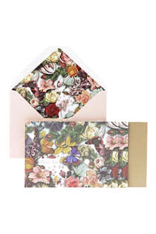 WILD & WOLF Floral set of 12 notecards