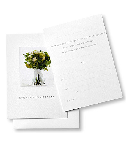 SUSAN O'HANLON Wedding collection set of six evening reception invitations