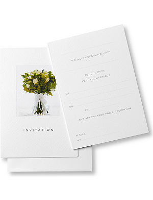 SUSAN O'HANLON Wedding collection set of six wedding invitations
