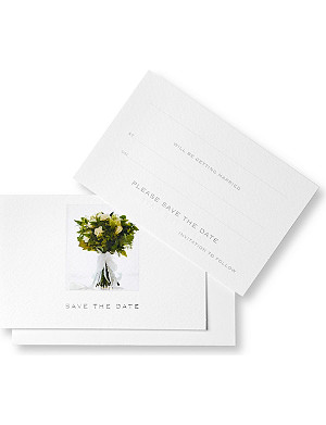 SUSAN O'HANLON Wedding collection set of six save the date cards