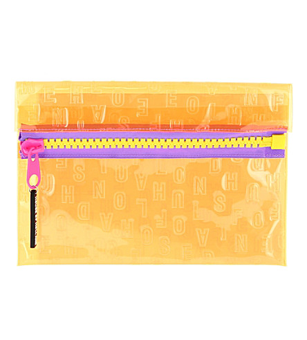 HOUSE OF HOLLAND Hh pvc document wallet (orange)