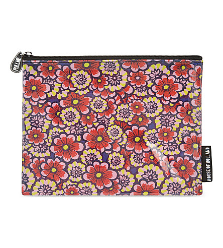 HOUSE OF HOLLAND Floral pencil case