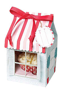 Set of four patisserie cupcake boxes