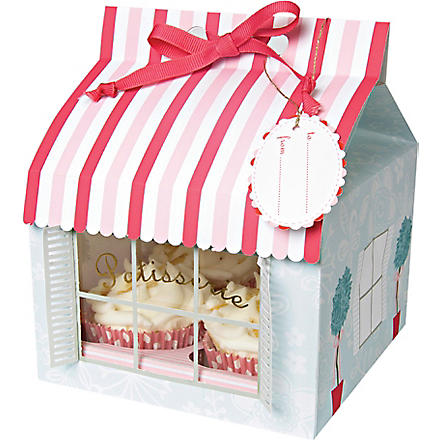Set of three large patisserie cupcake boxes