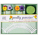 MERI MERI Pretty Pansies cupcake kit