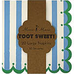 MERI MERI Toot Sweet pack of 20 striped napkins