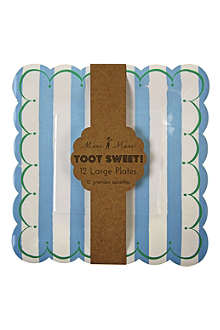 MERI MERI Toot Sweet pack of 12 large paper plates