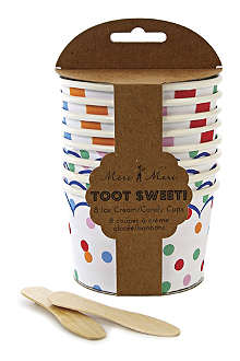 MERI MERI Toot Sweet pack of eight ice cream/candy cups