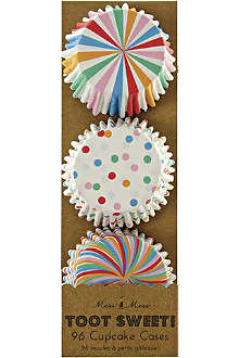 MERI MERI Toot Sweet pack of 96 mini cupcake cases