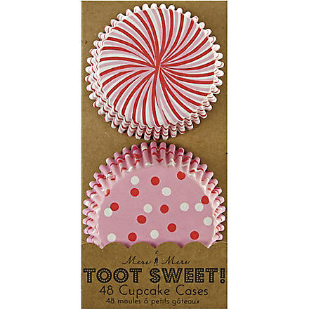 MERI MERI Toot Sweet pack of 48 cupcake cases
