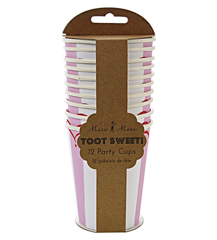 MERI MERI Toot Sweet pack of 12 paper cups
